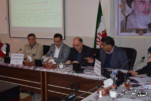 هفتمین جلسه کارگروه سلامت و امنیت غذایی شهرستان آزادشهر برگزار شد