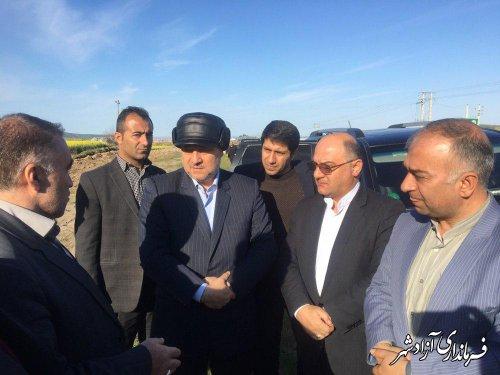 بازدید استاندار گلستان از محور مواصلاتی آزادشهر به شاهرود