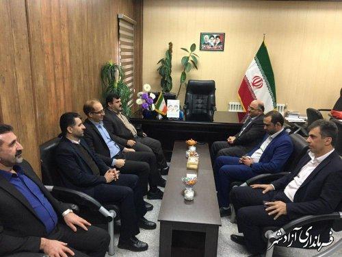 دیدار مدیرعامل بانک ملی استان با فرماندار شهرستان آزادشهر