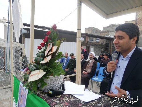 برگزاری جشن نیکوکاری در مدرسه نمونه دولتی طه شهرستان آزادشهر