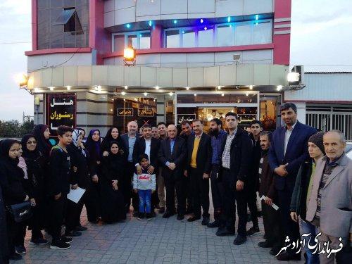 استقبال مسئولین شهرستان آزادشهر از کاروان کانون روشندلان استان مازندران