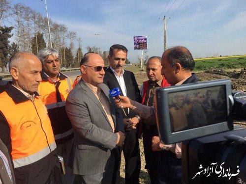 شهرستان آزادشهر در حال آماده سازی برای میزبانی شایسته از مسافران نوروزی است