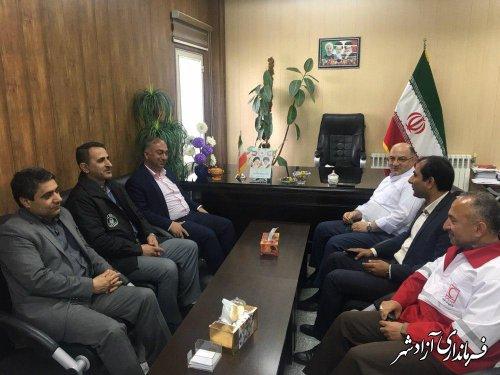 جلسه هماهنگی، بررسی و پیگیری خسارت حوادث سیل و رانش زمین در شهرستان آزادشهر