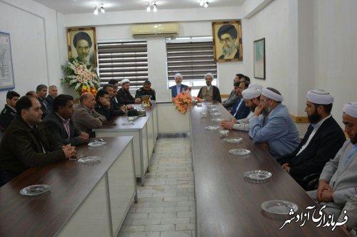 دیدار مسئولین شهرستان آزادشهر با فرماندهان سپاه پاسداران انقلاب اسلامی