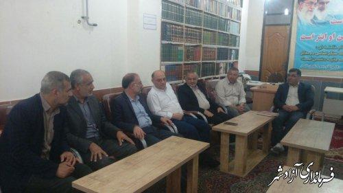 حضور فرماندار شهرستان آزادشهر در جلسه علنی شورای اسلامی نگین شهر