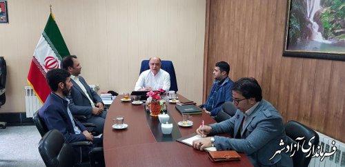 جلسه شورای مشاورین فرمانداری شهرستان آزادشهر برگزار شد