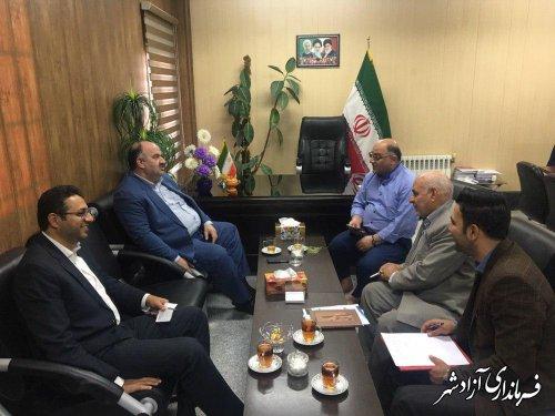 دیدار مدیرکل زندان های استان گلستان با فرماندار شهرستان آزادشهر
