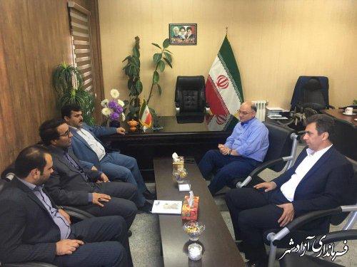 دیدار مدیرعامل بانک ملی استان گلستان با فرماندار شهرستان آزادشهر