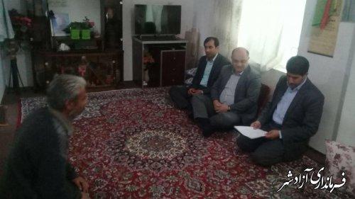 دیدار  فرماندار شهرستان آزادشهر از چند خانواده مددجو کمیته امداد امام خمینی (ره)