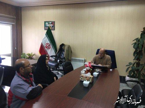 ملاقات مردمی فرماندار شهرستان آزادشهر با مراجعین برگزار شد