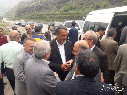 بازدید رییس کمیسیون عمران مجلس شورای اسلامی از محور ترانزیتی آزادشهر به شاهرود