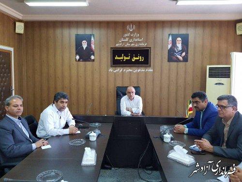 مشکلات هیات های ورزشی و ورزشکاران شهرستان آزادشهر بررسی شد