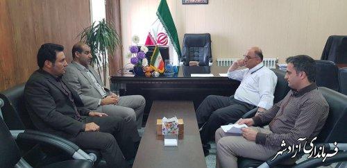 دیدار مدیرکل آموزش فنی و حرفه ای استان گلستان با فرماندار شهرستان آزادشهر