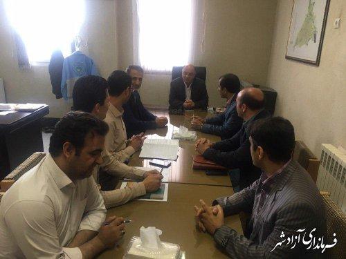 تشکیل اولین جلسه کمیته اصلاح الگوی مصرف در شهرستان آزادشهر