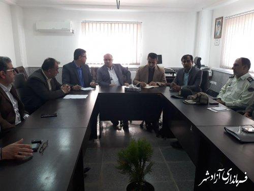 اولین جلسه کارگروه اطفا حریق شهرستان آزادشهر برگزار شد