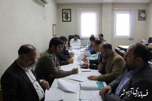 جلسه طرح تقسیم کار ملی در کنترل و کاهش آسیبهای اجتماعی در شهرستان آزادشهر برگزار شد