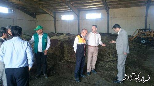 بازدید اعضای کارگروه کشاورزی شهرستان آزادشهر ار مراکز خرید گندم و کلزا