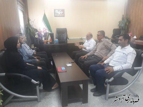 دیدار معاون مدیرکل منابع طبیعی و آبخیزداری استان گلستان با فرماندار شهرستان آزادشهر