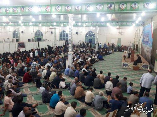 مراسم باشکوه ارتحال حضرت امام خمینی (ره) و قیام خونین 15 خرداد در شهرستان آزادشهر برگزار شد