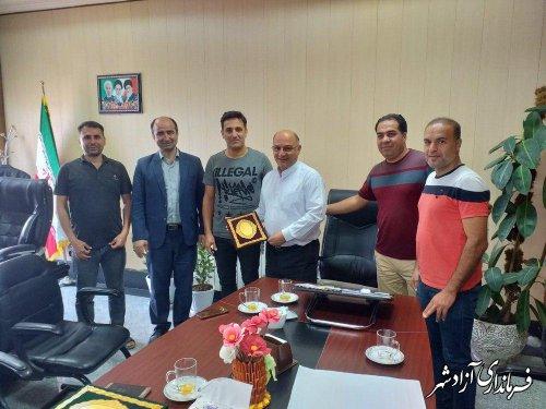 قدردانی مسئولات برگزاری مسابقات ورزشی جام رمضان شهرستان آزادشهر از حمات های فرماندار