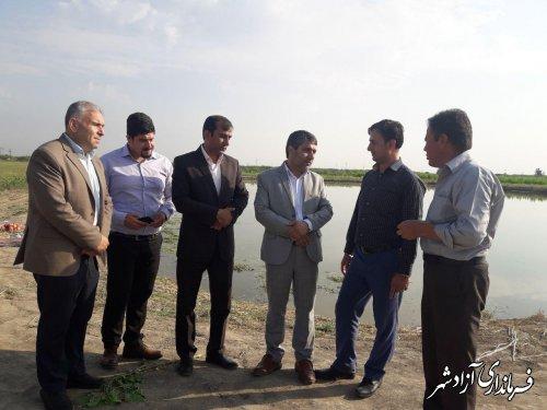 پروژه استخر دومنظوره پرورش ماهی در روستای قورچای شهرستان آزادشهر در حال اجرا می باشد