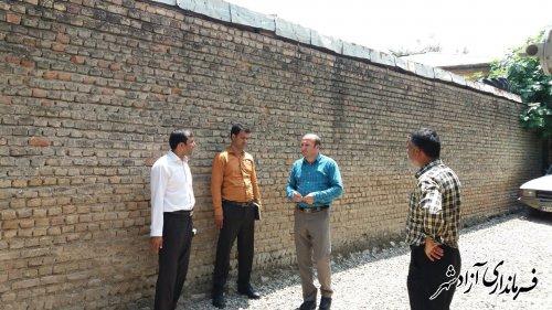 بازدید میدانی پژوهش بخشدار مرکزی آزادشهر از شبکه آب شرب روستای خاندوزسادات