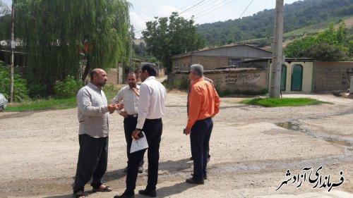 بازدید میدانی پژوهش بخشدار مرکزی آزادشهر از روستای کوه میان