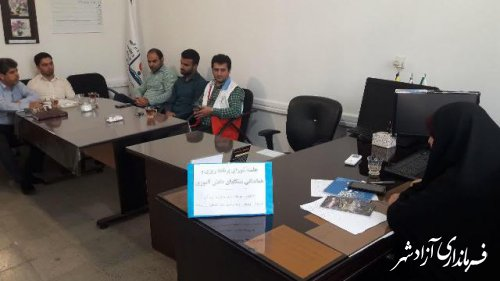 جلسه شورای برنامه ریزی و هماهنگی  تشکلهای دانش آموزی مدارس آزادشهر