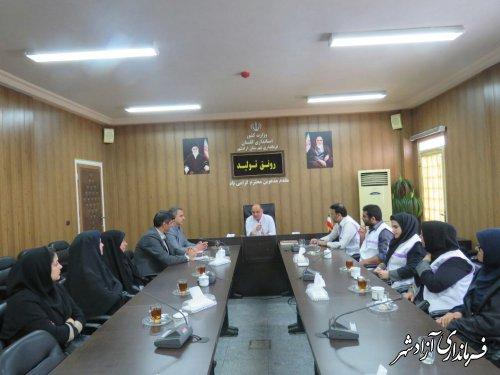 دیدار رییس و کارکنان اداره بهزیستی با فرماندار شهرستان آزادشهر