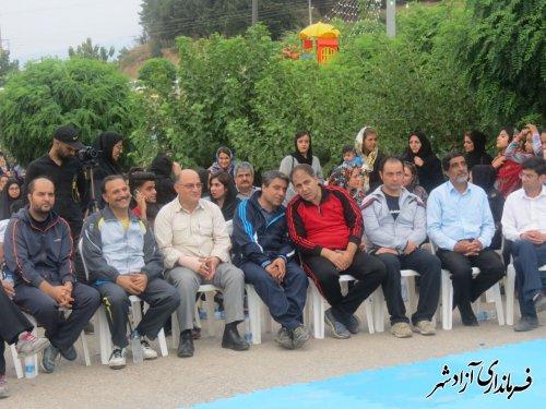 برگزاری پیاده روی بزرگ خانوادگی در شهرستان آزادشهر