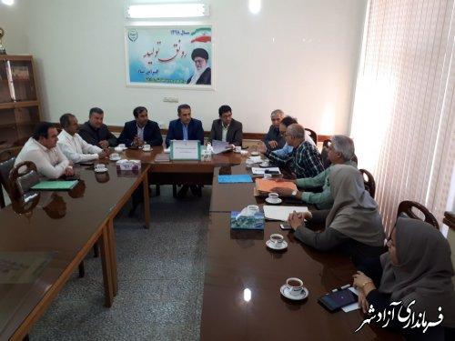 برگزاری جلسه پیگیری پروندههای خسارت سیل و رانش در حوزه جهادکشاورزی شهرستان آزادشهر