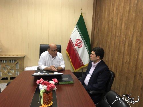 دیدار مدیرکل بهزیستی استان گلستان با فرماندار شهرستان آزادشهر