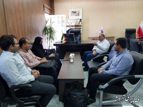 دیدار مدیر فناوری اطلاعات استانداری گلستان با فرماندار شهرستان آزادشهر