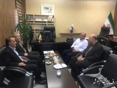 دیدار و نشست مشترک فرماندار شهرستان ورامین با فرماندار شهرستان آزادشهر