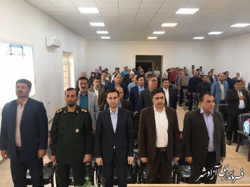 برگزاری مراسم افتتاح متمرکز 91 پروژه عمرانی و اقتصادی و اشتغالزا شهرستان آزادشهر