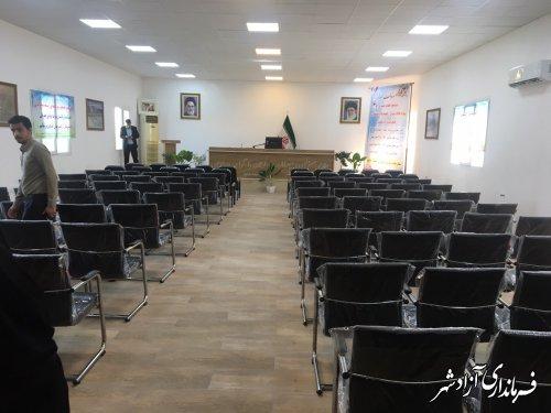 افتتاح سالن اجتماعات غدیر فرمانداری شهرستان آزادشهر با اعتبار 500 میلیون تومان