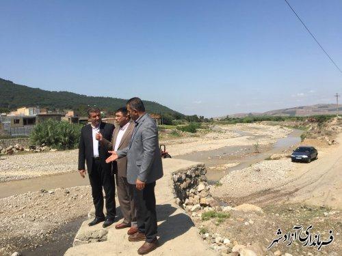 بازدید معاون عمرانی فرمانداری شهرستان آزادشهر از پروژه تعریض جاده بین المللی آزادشهر به شاهرود