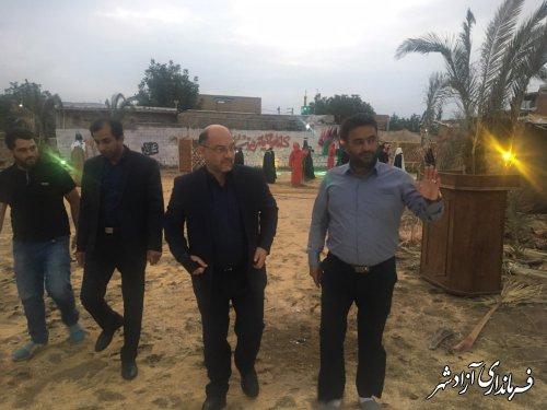 بازدید فرماندار شهرستان آزادشهر از نمایشگاه جلوه های عاشورایی در روستای سیدآباد