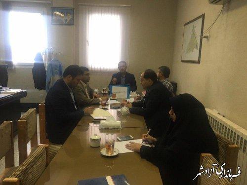 اولین جلسه هیات بازرسی و رسیدگی به شکایات انتخابات در شهرستان آزادشهر تشکیل شد