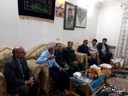 دیدار با خانواده شهید مدافع حرم، شهید غلامی