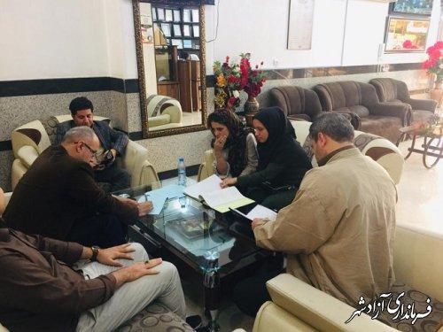 بازدید مشترک از تأسیسات گردشگری شهرستان آزادشهر به مناسبت هفته گردشگری