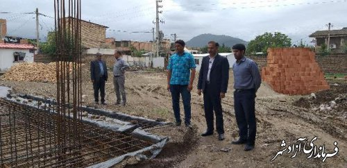 بازدید مدیر آموزش و پرورش آزادشهر از روند احداث مدرسه درحال ساخت روستای ازدارتپه