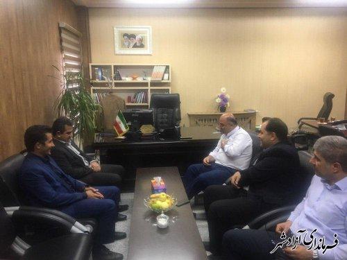 دیدار مدیرعامل شرکت شهرک های صنعتی استان با فرماندار شهستان آزادشهر