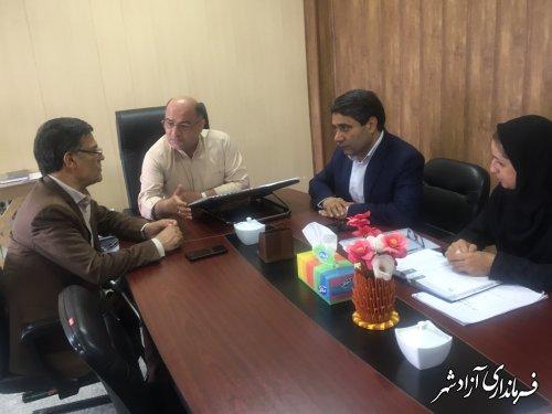 دیدار مدیرکل امور اجتماعی و فرهنگی استانداری با فرماندار شهرستان آزادشهر