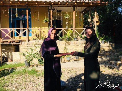 تقدیر از اقامتگاه های بومگردی فعال شهرستان آزادشهر به مناسبت هفته گردشگری