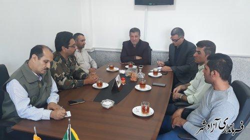 جلسه بخشدار چشمه ساران و روستای رحیم آباد