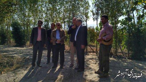 بازدید فرماندار آزادشهر به همراه مشاور وزیر جهادکشاورزی از 3 پروژه بخش کشاورری