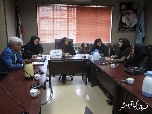 جلسه اتاق فکر اقتصاد مقاومتی با رویکرد ایجاد اشتغال پایدار در مرکز فنی وحرفه ای آزادشهر برگزار گردید
