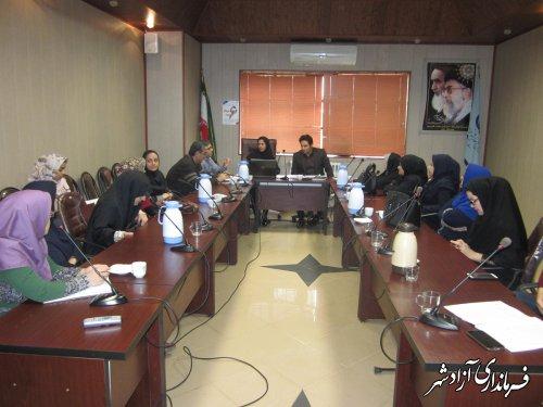 جلسه هم اندیشی با انجمن صنفی آموزشگاههای آزاد مرکز فنی وحرفه ای آزادشهر برگزار گردید .