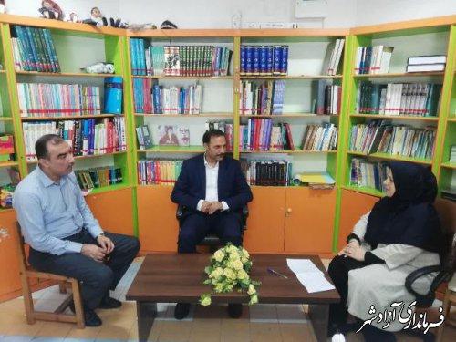 نشست مدیر آموزش و پرورش آزادشهر با مدیرکانون پرورش فکری کودکان و نوجوانان این شهرستان